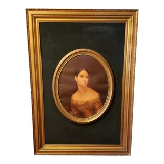 Victorian Lady Matted & Framed Portrait Print For Sale