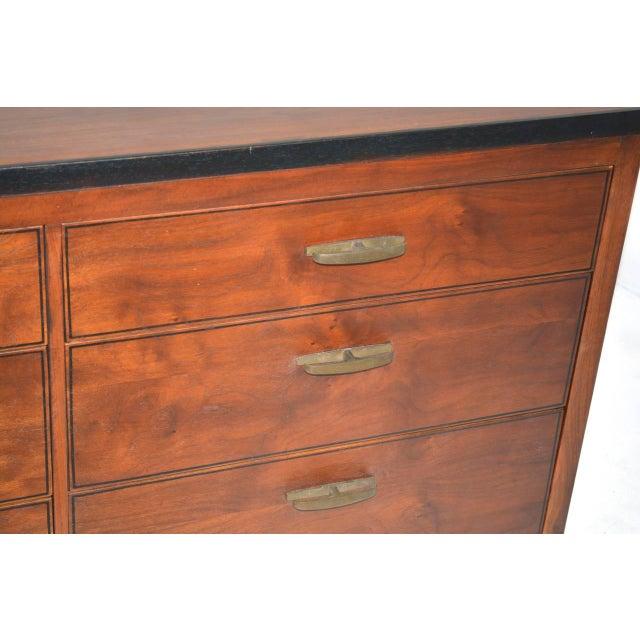 Mid-Century Modern Mid-Century Nine-Drawer Dresser For Sale - Image 3 of 5