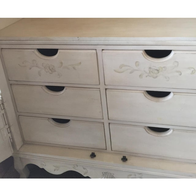 Ethan Allen Hand Painted Maison Armoire For Sale - Image 5 of 5