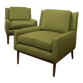 Mid Century Modern Lounge Chairs Attr. Paul McCobb Directional Model 302- a Pair For Sale