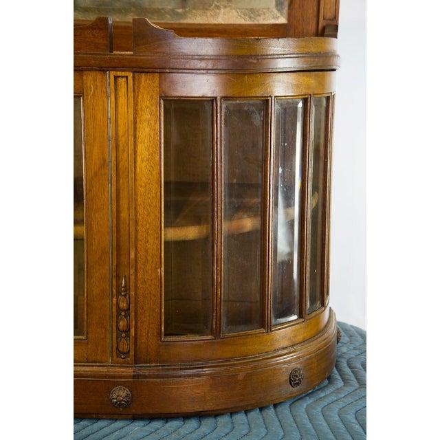 Vintage French Oak Breakfront Display Cabinet For Sale - Image 4 of 10