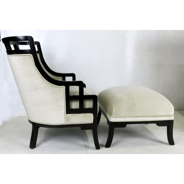 """Modern """"Wallis Simpson"""" Lounge Chair and Ottoman by Jay Spectre For Sale - Image 3 of 6"""
