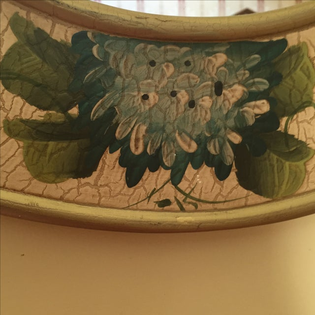 Vintage Hand-Painted Mirror - Image 4 of 6
