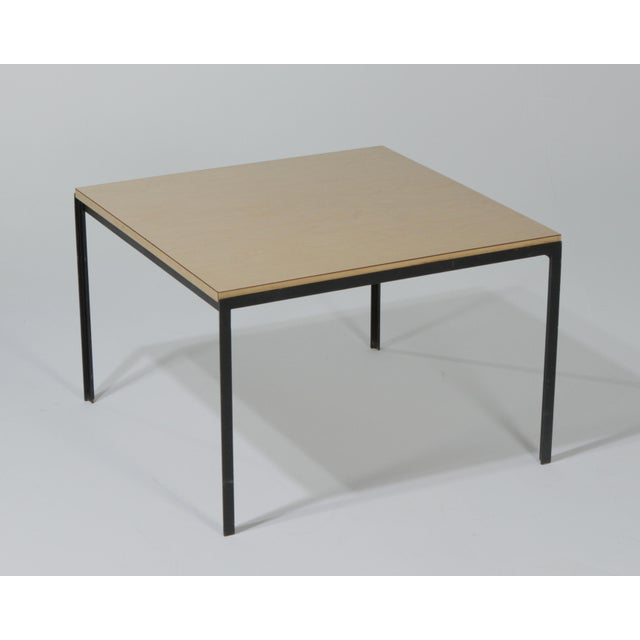 Knoll 1950s Mid-Century Modern Florence Knoll T Angle Table With a Birch Laminate Top For Sale - Image 4 of 13