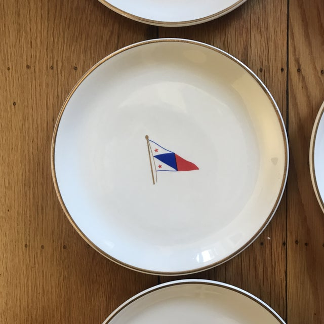 Vintage Syracuse China Yacht Club Plates - Set of 6 For Sale In San Francisco - Image 6 of 13