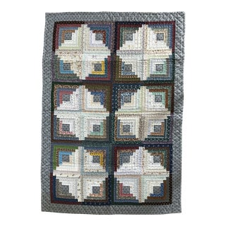 Mid-1980's Hand Made Cabin Quilt For Sale