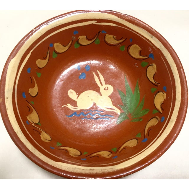 Redware Bowl With Rabbit - Image 3 of 5