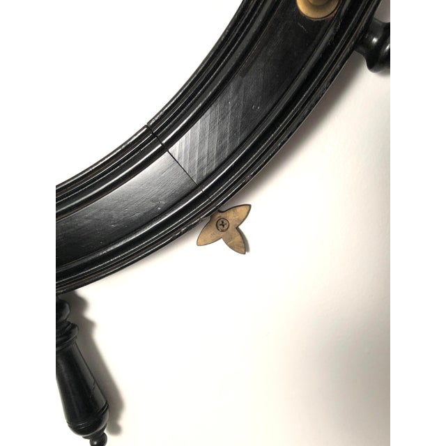 Late 19th Century 19th Century Ebonized and Turned Wood Ship's Wheel Mirror and Hat and Coat Rack For Sale - Image 5 of 11