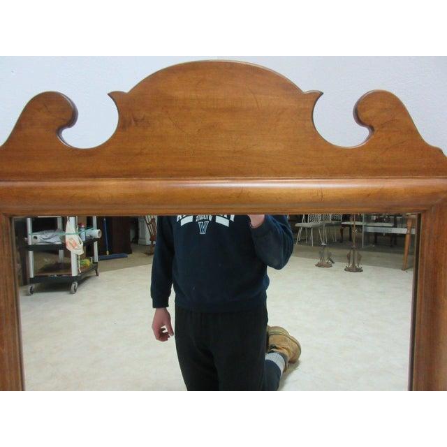 Ethan Allen 1776 Ethan Allen Dresser Hanging Wall Mirror For Sale - Image 4 of 10