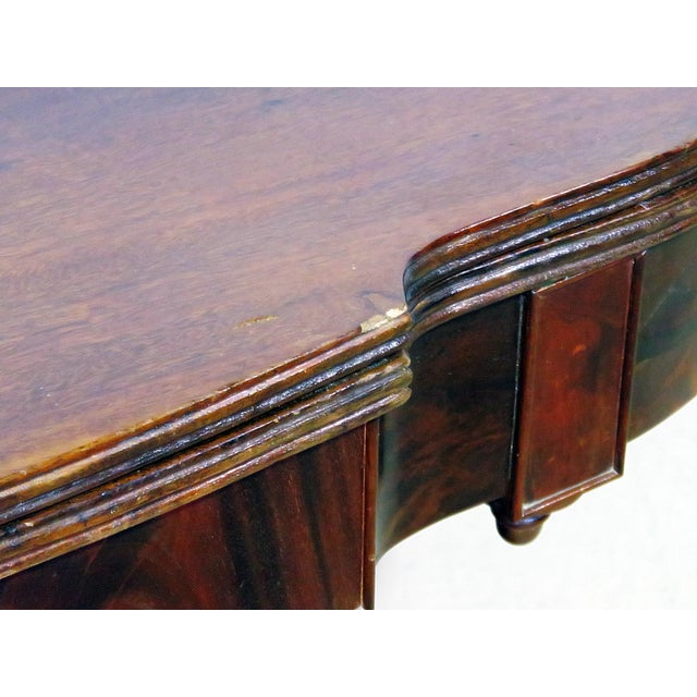 Brown Antique Traditional Duncan Phyfe Style Card Table For Sale - Image 8 of 10
