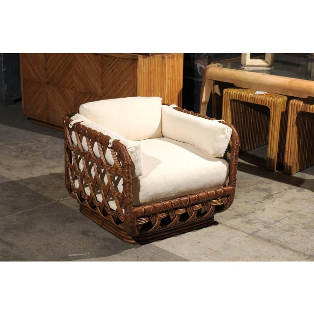 Fantastic Pair of Vintage Rattan Basket Loungers by Danny Ho Fong For Sale - Image 9 of 10