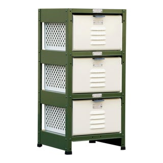 1 X 3 Locker Basket Unit, Vintage Inspired and Newly Fabricated to Order For Sale