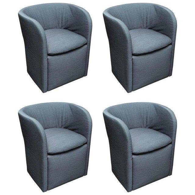 Set of 4 John Saladino for Dunbar Chairs For Sale - Image 10 of 10
