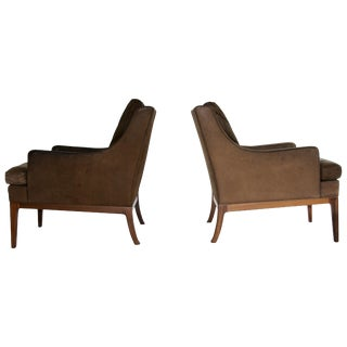 Pair of Rudolf Glatzel Leather Lounge Chairs For Sale