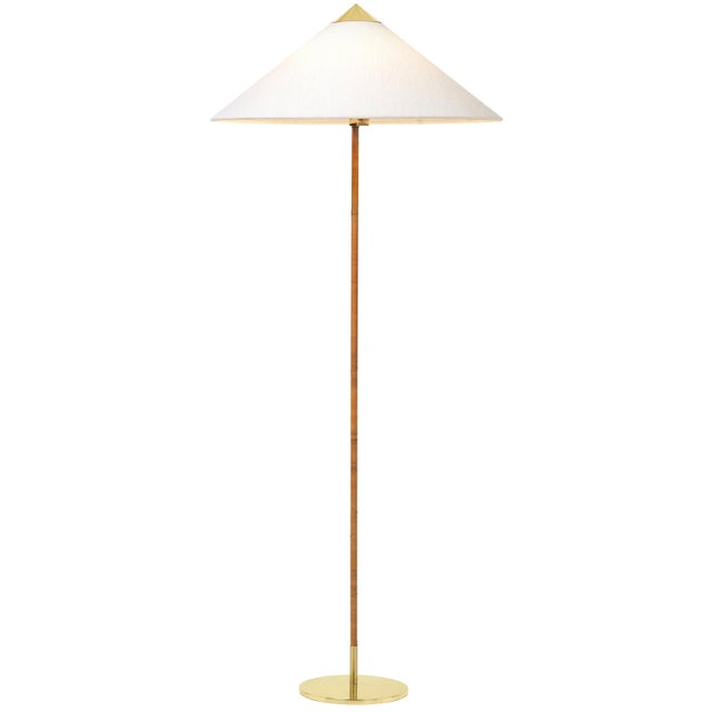 Not Yet Made - Made To Order Paavo Tynell Model 9602 Brass and Rattan Floor Lamp For Sale - Image 5 of 5