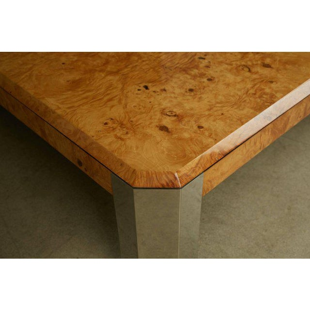 Burlwood Leon Rosen for the Pace Collection Burled Wood Large Coffee Table For Sale - Image 7 of 8