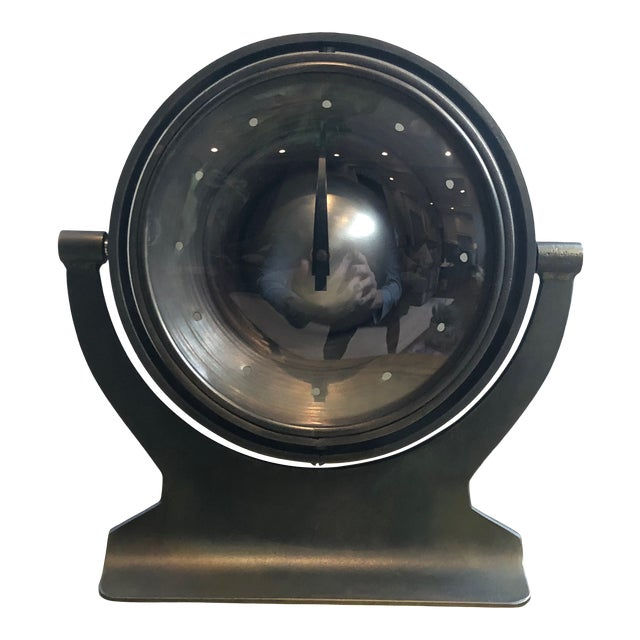 Mid 20th Century Industrial Metal Clock For Sale