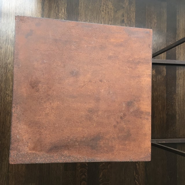 Industrial Frame Square Side Tables - Pair - Image 6 of 7