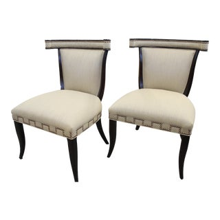 Ferguson Copeland, Ltd. Vienna Side Chairs- A Pair For Sale