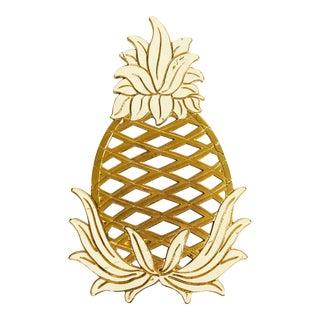 Vintage Brass Pineapple Trivet For Sale