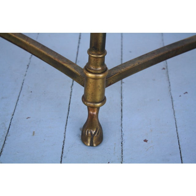 Metal Brass & Glass Demi-Lune Table - Italian For Sale - Image 7 of 12
