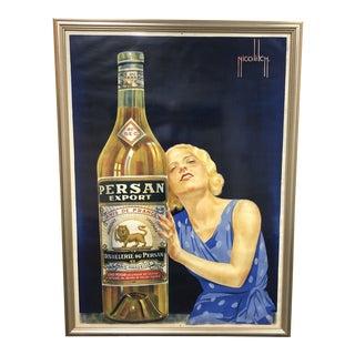Obrad Nicolitch Persan Export Anis De France Framed Poster For Sale
