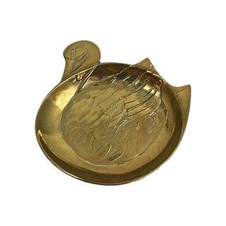 Brass Swan Catchall Dish