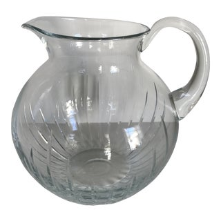 Large Block Crystal Water Pitcher Made in Poland For Sale