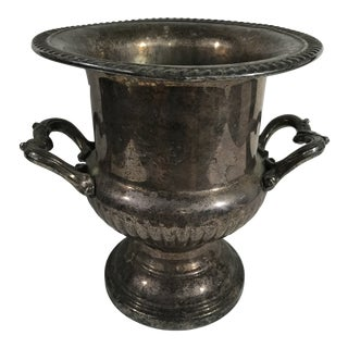 Vintage Tarnished Silver Champagne Bucket For Sale