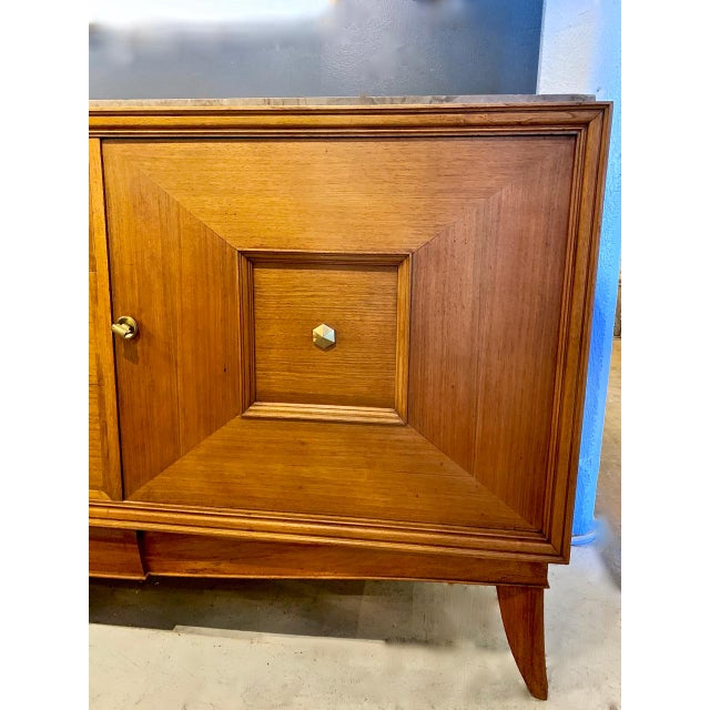 French 1950s French Moderne Credenza For Sale - Image 3 of 12