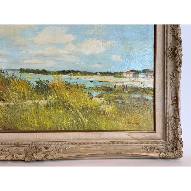 French Seascape Painting by Lois Clark, Framed For Sale - Image 9 of 13