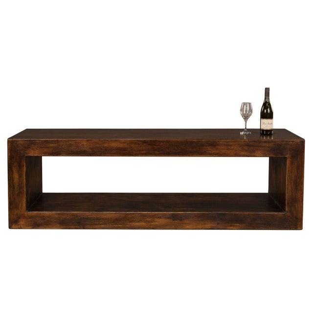 Sarreid LTD Modern Pine Wood Console - Image 2 of 6