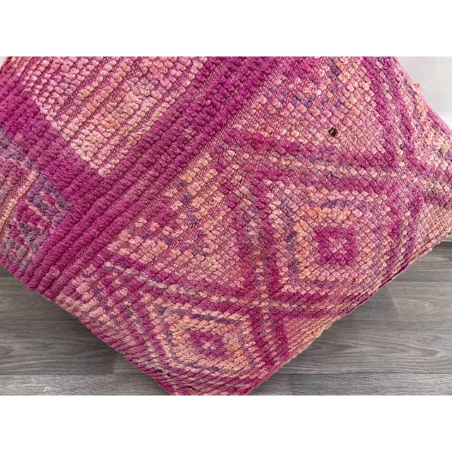 Hand Woven Berber Moroccan Pouf Cover For Sale - Image 9 of 13