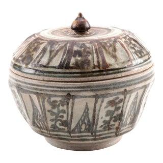 15th C. Thai Sawankhalok Lidded Bowl For Sale
