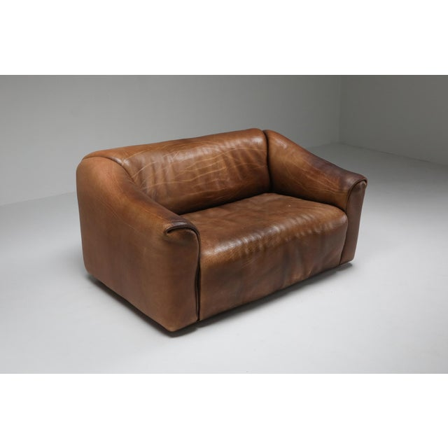 1970s De Sede Ds 47 Brown Leather Sofa For Sale - Image 6 of 9
