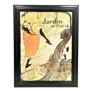 Henri De Toulouse-Lautrec's Poster of Jane Avril For Sale