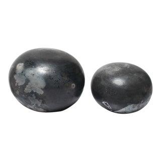 Raku Pottery Spheres For Sale