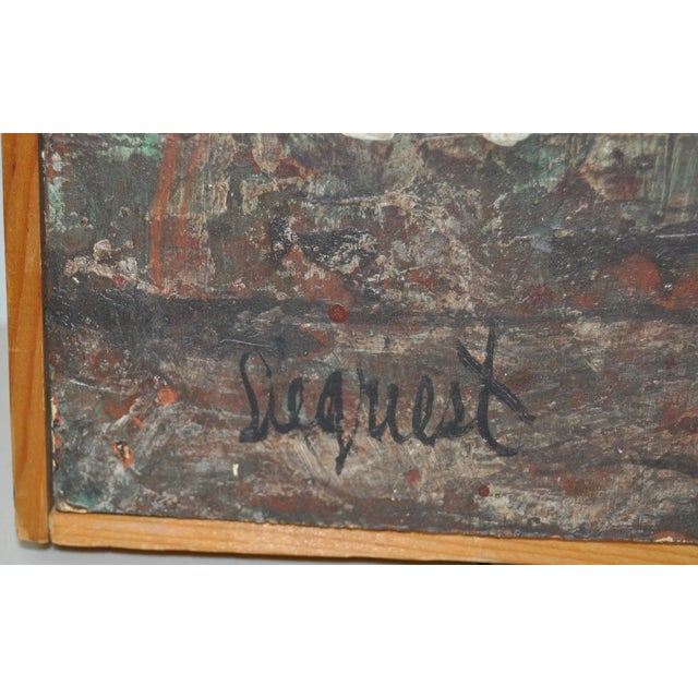 Louie Siegriest Modernist Oil Painting C.1950s For Sale - Image 5 of 6