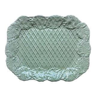 """Bordallo Pinheiro Majolica 18"""" Leaf Serving Platter For Sale"""