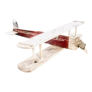 Vintage Handcrafted Model Toy Airplane For Sale