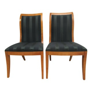 Hickory White Genesis Neo Classical Dining Room Side Chairs - A Pair For Sale