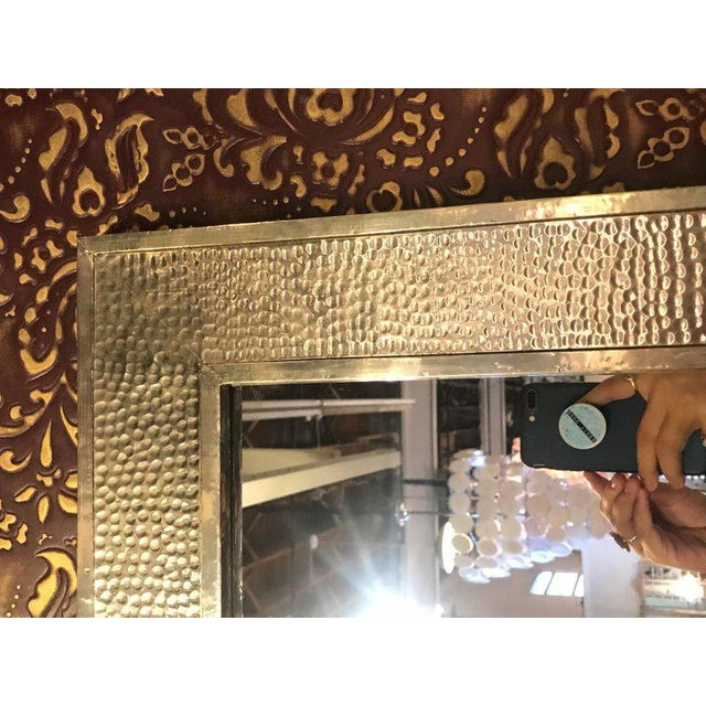1990s Mid-Century Modern Brass Wall/ Floor Mirrors - a Pair For Sale In New York - Image 6 of 7