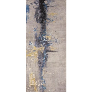 Contemporary Wool and Silk Runner Rug - 2′8″ × 6′8″ For Sale