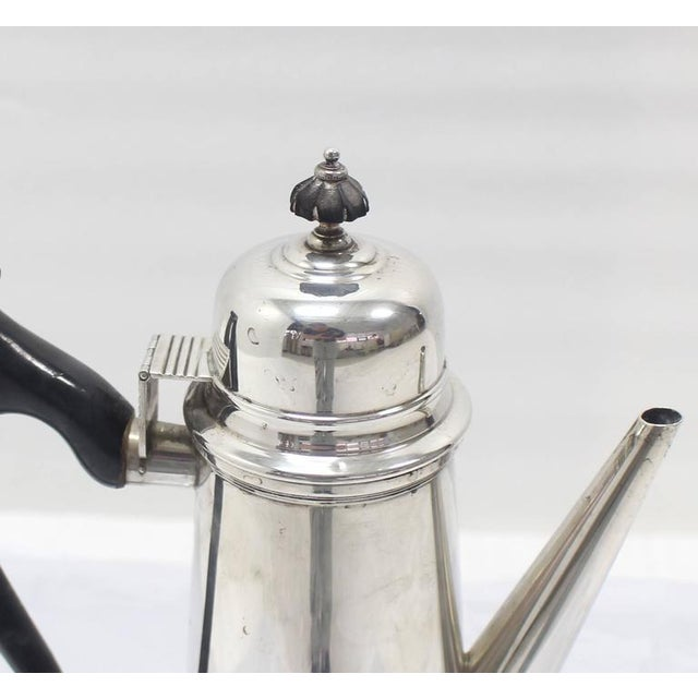 Early 20th Century Jacob Hurd by Frank Whiting Sterling Silver Tea Coffee Pot For Sale - Image 5 of 8