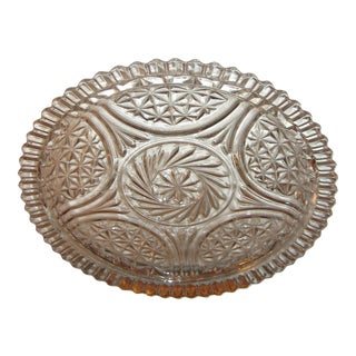 Cut Glass Round Cake Plate For Sale