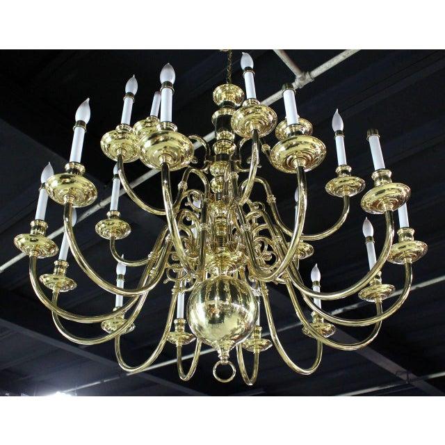 Vintage Brass Candelabra Chandelier For Sale - Image 4 of 10
