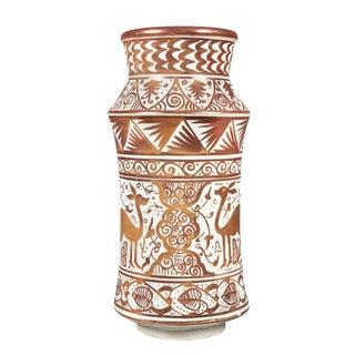 Hispano-Moresque Pottery Vase For Sale