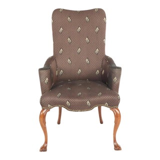 Late 20th Century Vintage Federal Style Upholstered Armchair For Sale