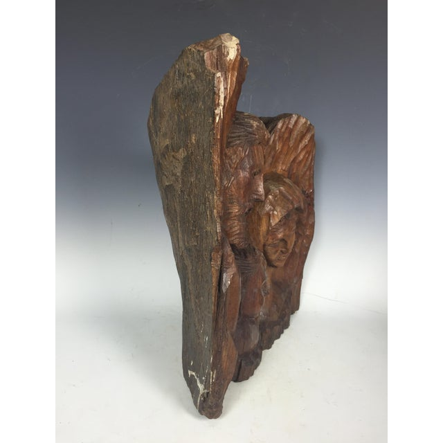 Vintage Carved Wood Religious Sculpture of Holy Family For Sale - Image 5 of 6