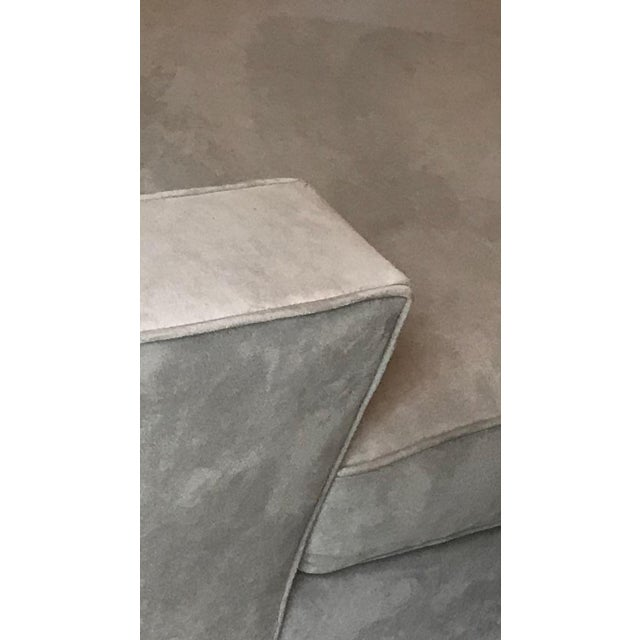 Room and Board Suede Chaise Lounge For Sale In Los Angeles - Image 6 of 10